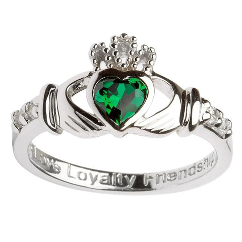 Claddagh Birthstone Ring  | May