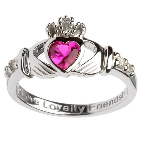 Claddagh Birthstone Ring | July