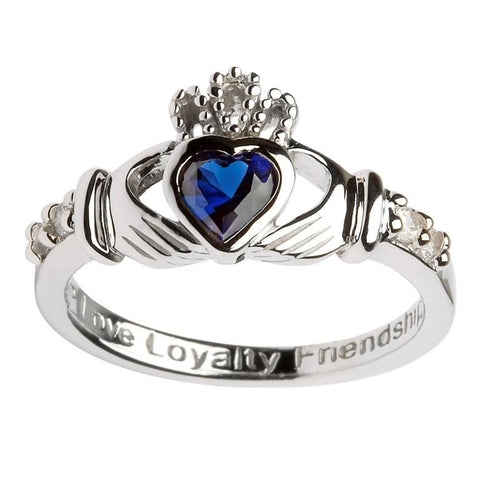 Claddagh Birthstone  Ring | September
