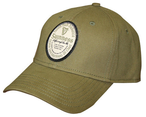 Guinness  Gaelic Label Cap Olive Green Cap