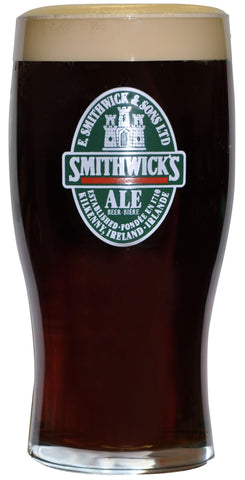 Guinness Smithwicks Label 20oz Glass