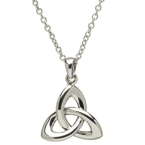 SharOre Silver Trinity Knot Necklace