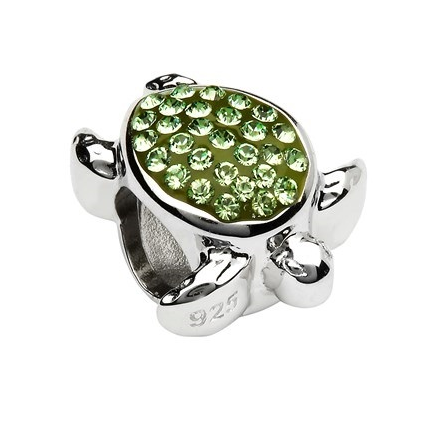 Bead | Green Swarovski Turtle Bead
