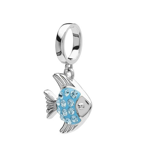 Angelfish with Aqua Swarovski Bead