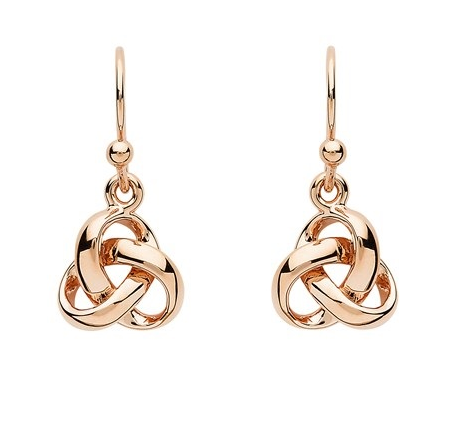 Trinity Knot Rose Gold Earrings
