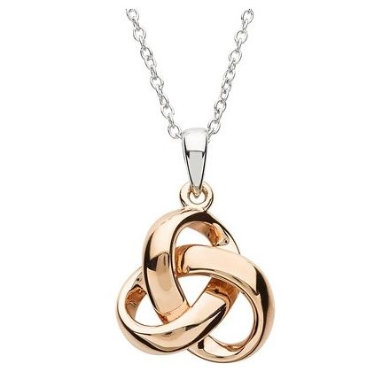 Trinity Knot Rose Gold Necklace