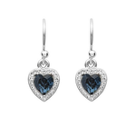 Swarovski Sapphire Heart Drops Earrings