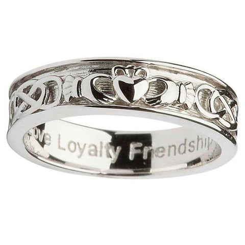 Men's  Claddagh Eternity Band Ring