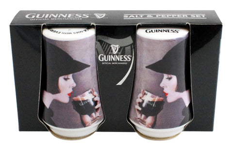 Guinness Girl Salt & Pepper Set Gift