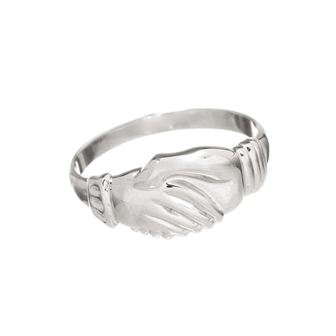 Large Hands Clasped Friendship Ring