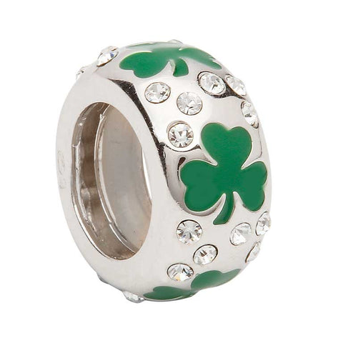 Bead | Shamrock Stone Set Bead
