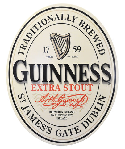 Guinness 3-D Oval Label Wall Art