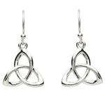 Earrings | Platunim Plated Thick Trinity Knot