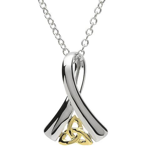 Necklace | Platinum Plated Ribbon of Life