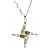 Necklace | Platinum Plated Celtic Brigid's Cross