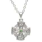 Necklace | Platinum Plated Mini Trinity Cross