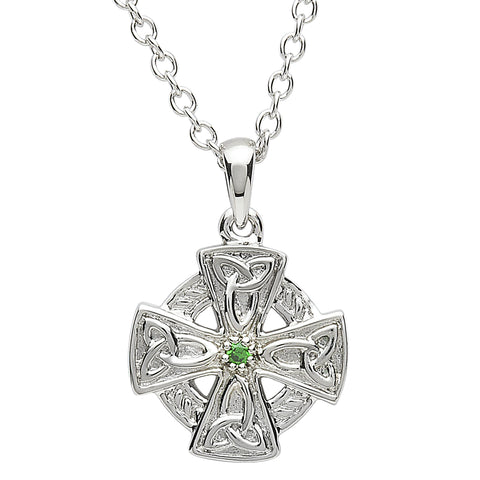 SharOre Platinum Plated Mini Trinity Cross Necklace