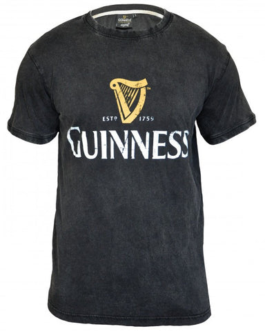 Guinness Distressed Trademark Label Tee Shirt