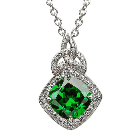 Green Cushion Necklace