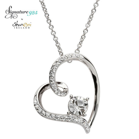 Signature 925 Collection Swarovski Heart Pendant Necklace