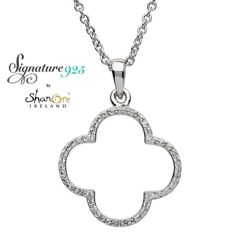 Signature 925 Collection Swarovski Quatrefoil Pendant Necklace