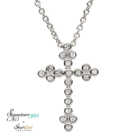 Signature 925 Collection Swarovski Cross Necklace