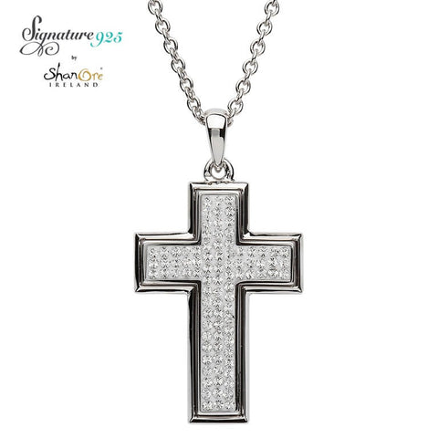 Signature 925 Collection Swarovksi Cross Necklace
