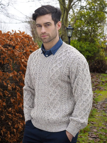 Traditional Knit V-neck Sweater