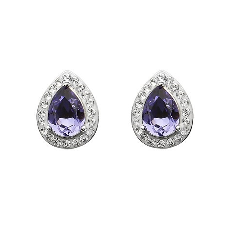 Earrings | Tanzanite Swarovski Tear Drop