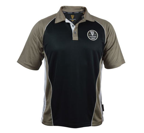 Guinness Brown Panneled Performance Golf Shirt