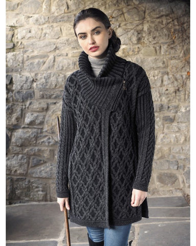 Aran Plated Oversized Coat