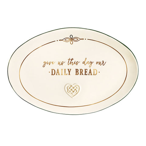 """Give Us This Day"" Bread Plate"