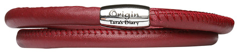 Red Leather Origin Bracelet