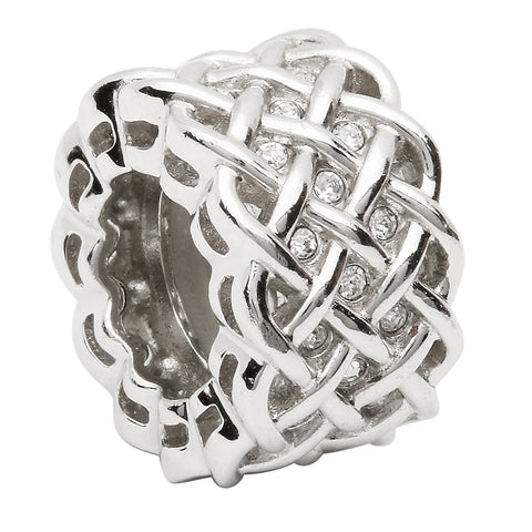 Silver Celtic Intricate Knot Origin Bead