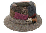 Walking Hat Patchwork Tweed
