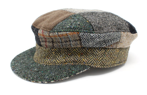 Hat | Patchwork Tweed Skipper Cap