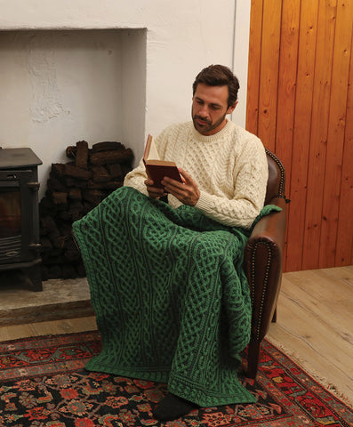 Throw | Plated Aran Throw