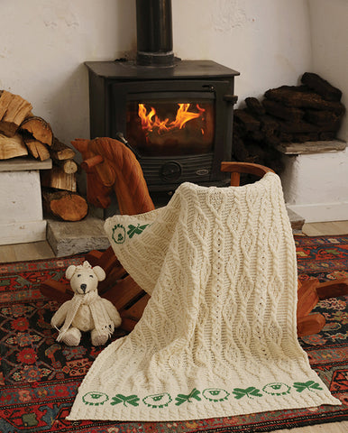 Throw | Sheep & Irish Shamrock Baby Blanket