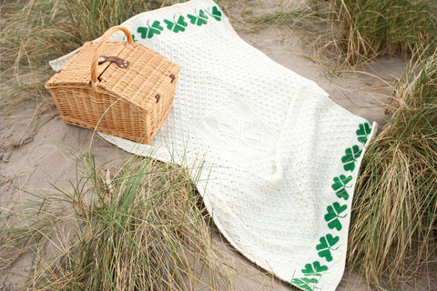 Throw | Wool Shamrock Throw Blanket