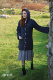 Merino Long Cardigan with Hood