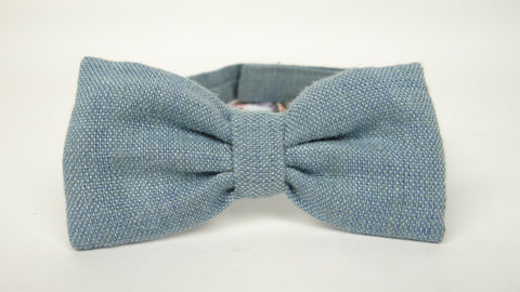 Denim Blue Linen Tie
