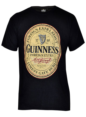 Guinness Distressed English Label Tee Shirt