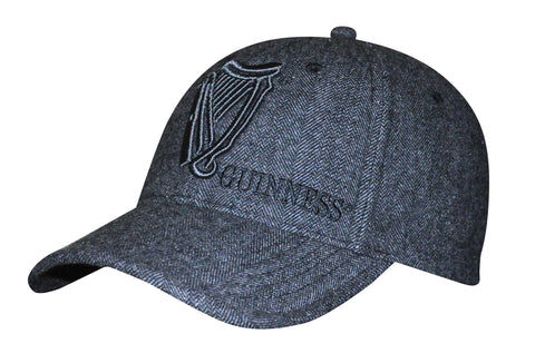 Guinness Tweed Vintage Harp Baseball Cap Grey
