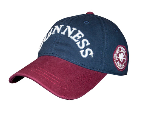 Guinness Navy Distressed Label Baseball Cap