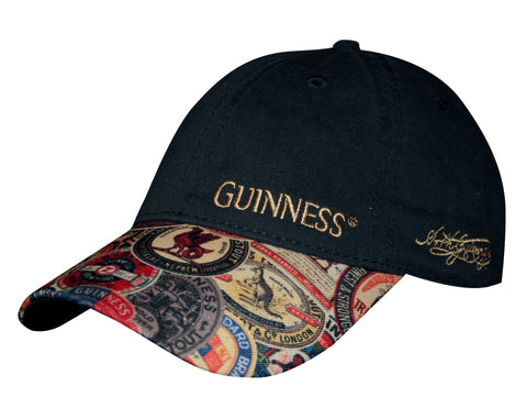 Guinness Washed Vintage Label Baseball Cap