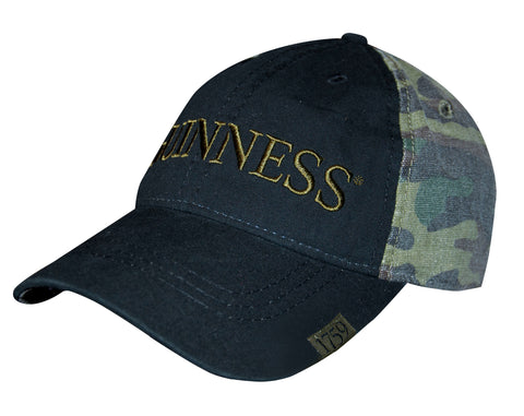 Guinness | Cap | Washed Camo Print Baseball Cap