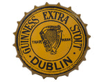 Guinness | Art | Gold Vintage Metal Bottle Cap Sign
