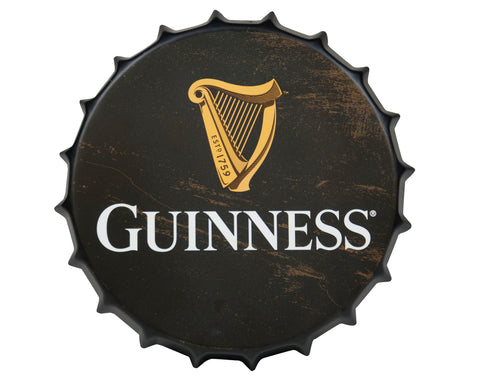 Guinness | Art | Guinness Black Harp Metal Bottle Cap Sign