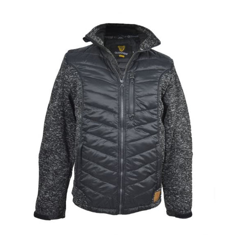 Guinness Black & Charcoal Hybrid Jacket