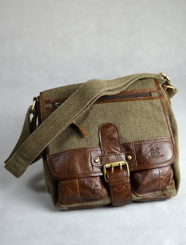 Tweed & Leather Single Buckle Bag